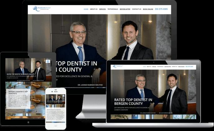 Custom website design for a general dental practice