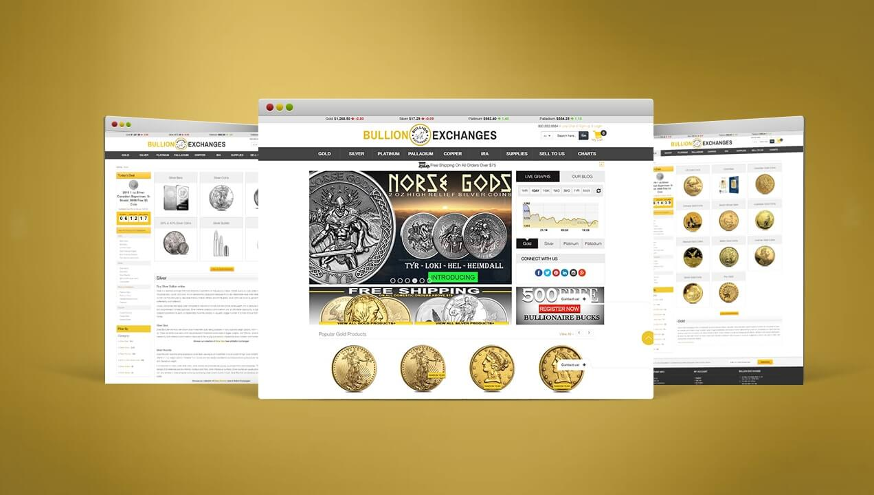 Bullion Exchanges Redeveloped Website Design