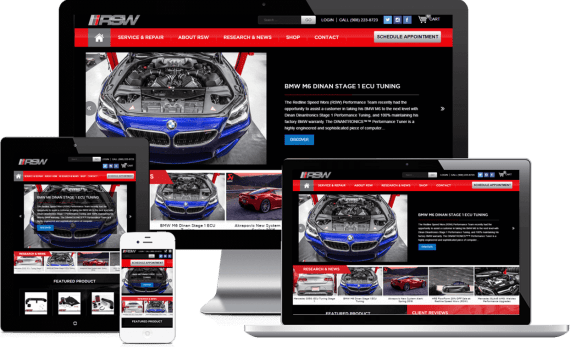 RedLineSpeedWorx Web Design Automotive