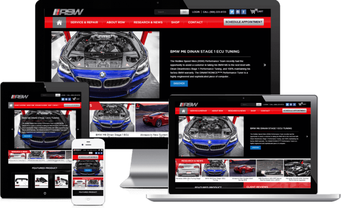 Ecommerce website for an automotive repair company