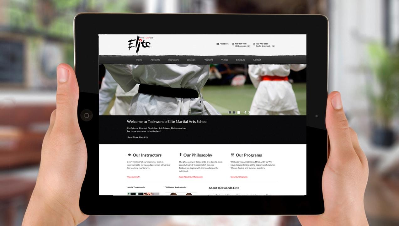 Taekwondo Elite Responsive Homepage design