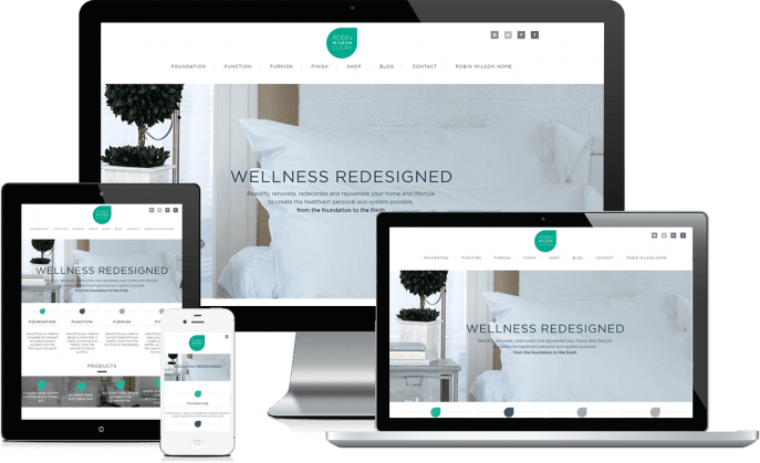 Custom website design for interior design products