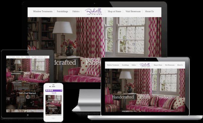 Custom website design for interior design