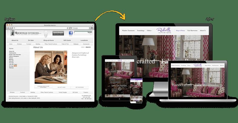 Rockville Interiors: Home Services Website Redesign