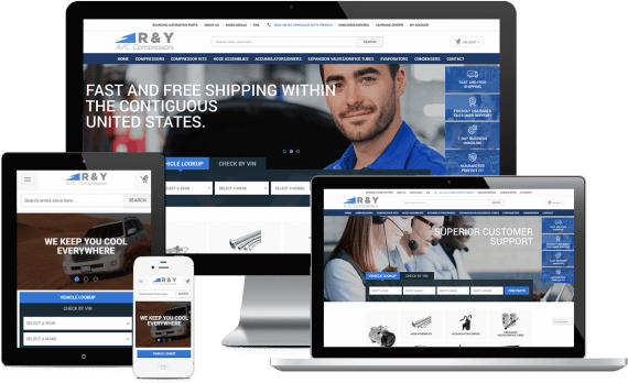 R & Y A/C Compressors Web Design Automotive