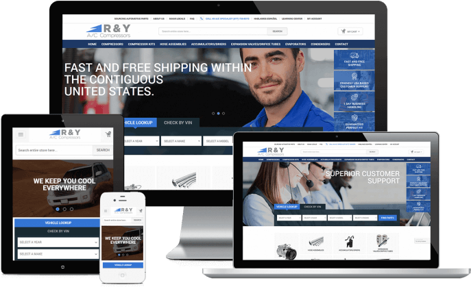 Ecommerce website for an auto parts store