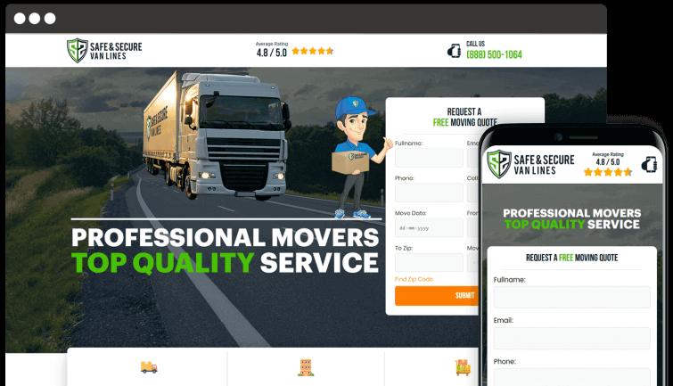 Safe Secure Van Lines: B2C Website Redesign