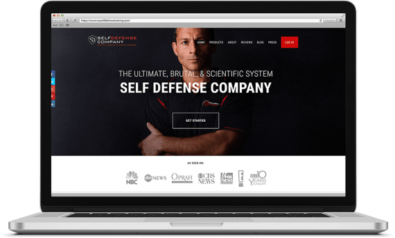 Self Defense Company Web Design Ecommerce