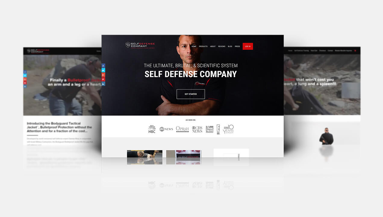 Self Defence homepage design
