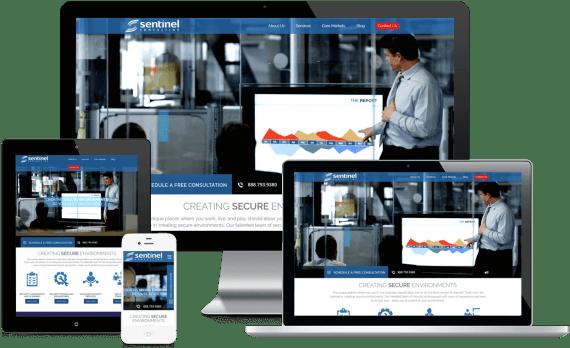 Sentinel Consulting Web Design Custom Website