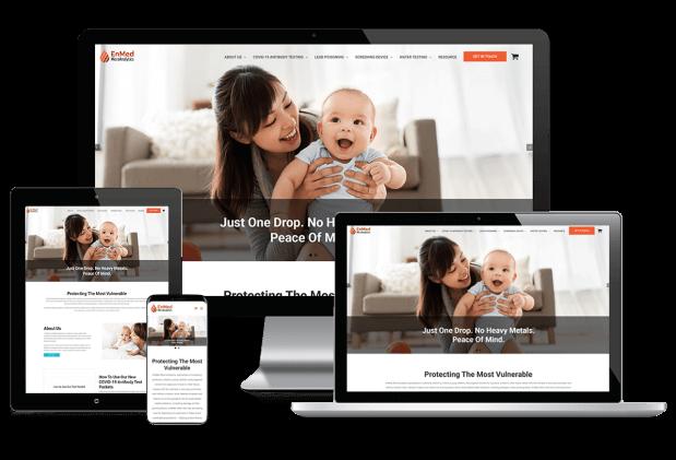 Custom website design for infant-health screening services