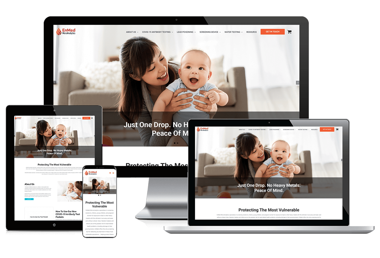 SEO Medical & Healthcare: Enmed MicroAnalytics Responsive
