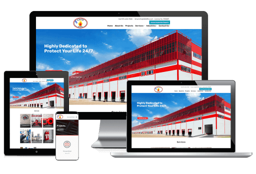ASCO Fire Web Design Small Business