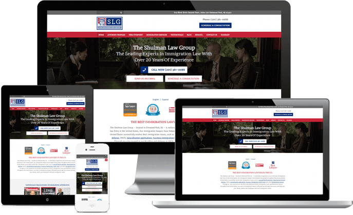 Custom website design for an immigration lawyer