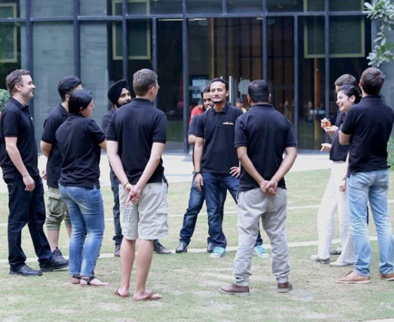 SmartSites team outdoor game