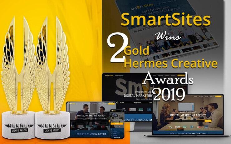 smartsites wins 2 gold hermes creative awards 2019