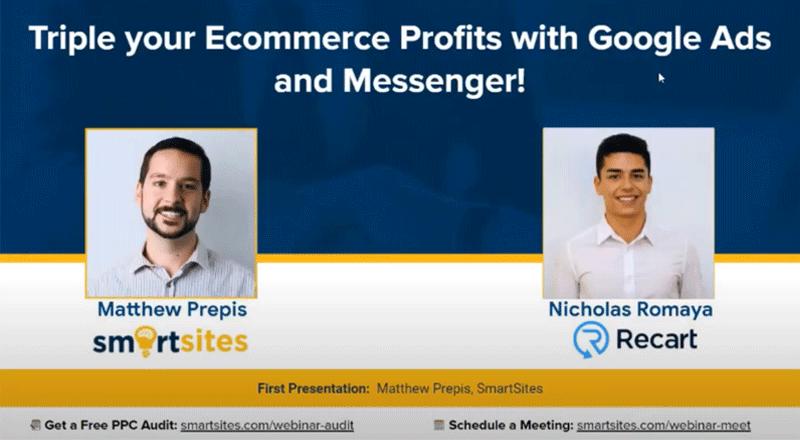 SmartSites x Recart: Triple Your Ecommerce Profits with PPC and Messenger