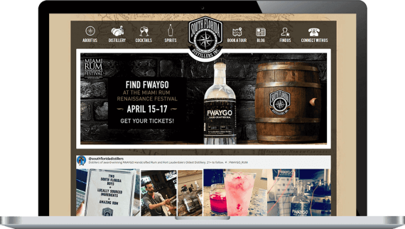 South Florida Distillers Web Design Hospitality