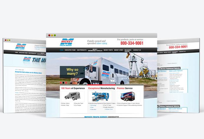 Mickey Truck Bodies WordPress Website