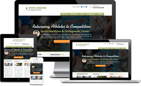 Sports Medicine & Orthopaedic Web Design Small Business