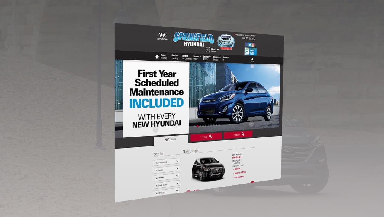 Springfield Hyundai homepage design
