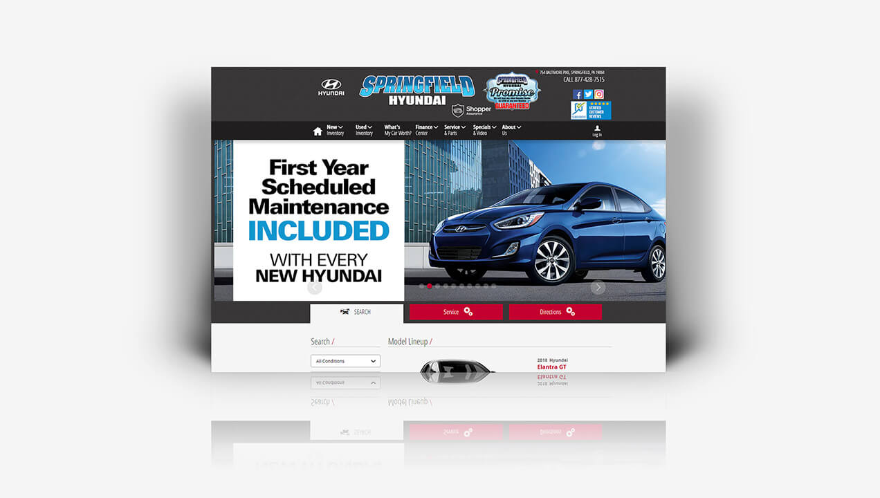 Springfield Hyundai new website design