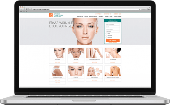 Studio Esthetique Web Design Medical & Healthcare