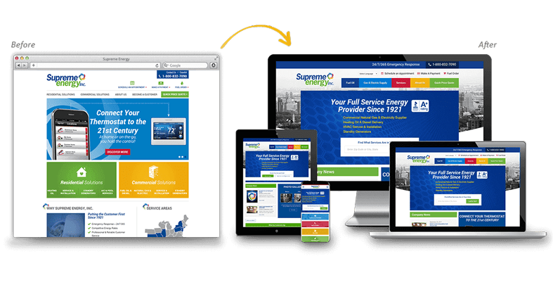 Supreme Energy: Home Services Website Redesign