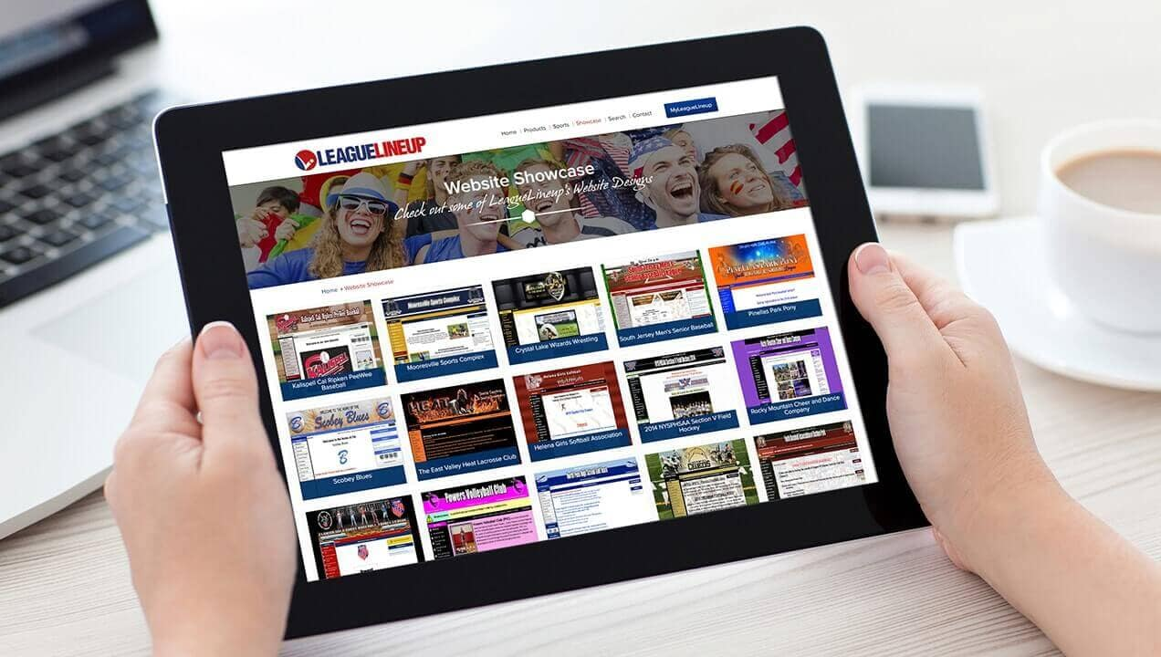 Tablet Website Redesign Leaguelineup