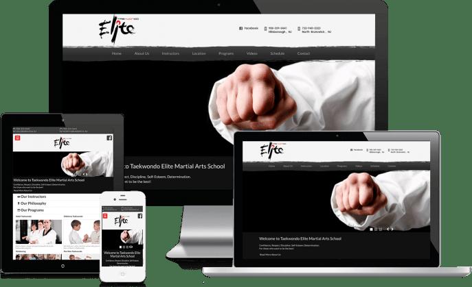 Custom website design for martial arts