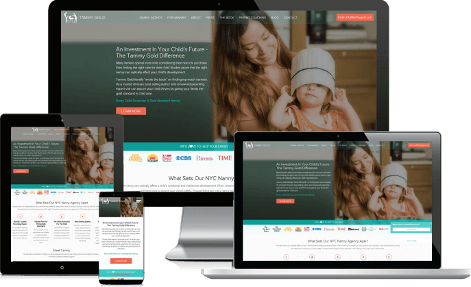 Custom website design for a nanny service