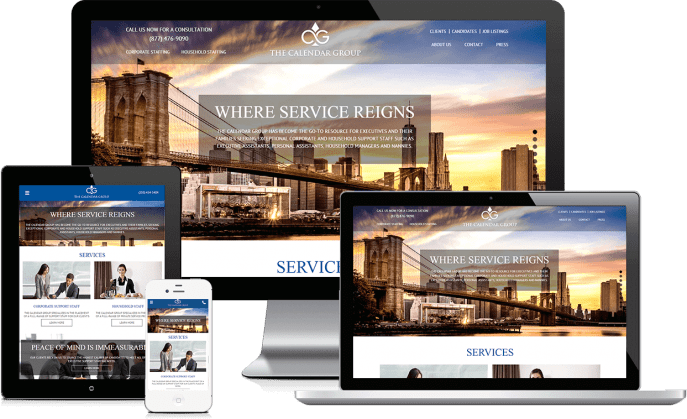 Custom website design for an employment agency