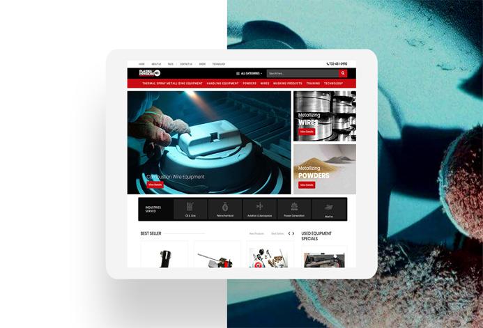 Plasma Powders WordPress Website
