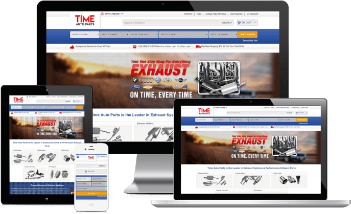 Ecommerce website for automotive parts