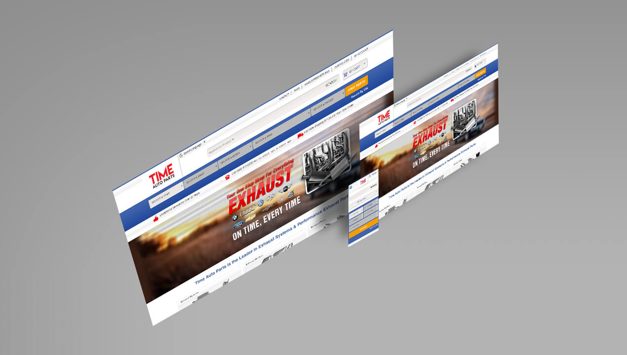 Time Auto Parts responsive website design