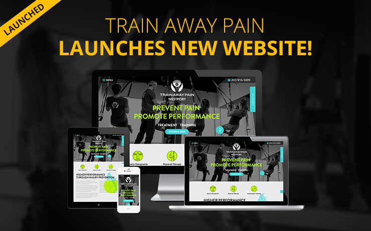 Fitness Center 'Train Away Pain' Gets New Website Design!