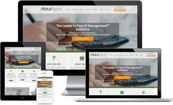 TRAXPayroll Web Design Business to Business