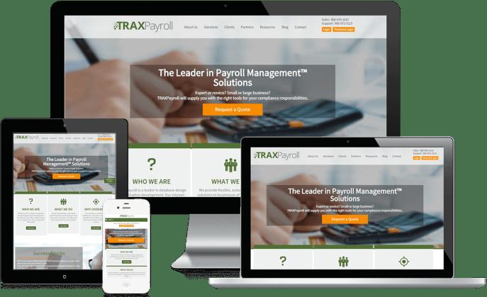 Custom website design for payroll technology