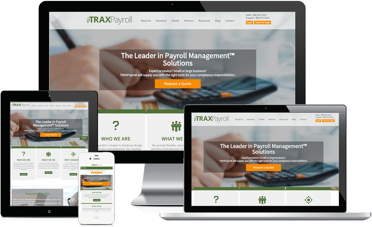 Custom Website for Traxpayroll