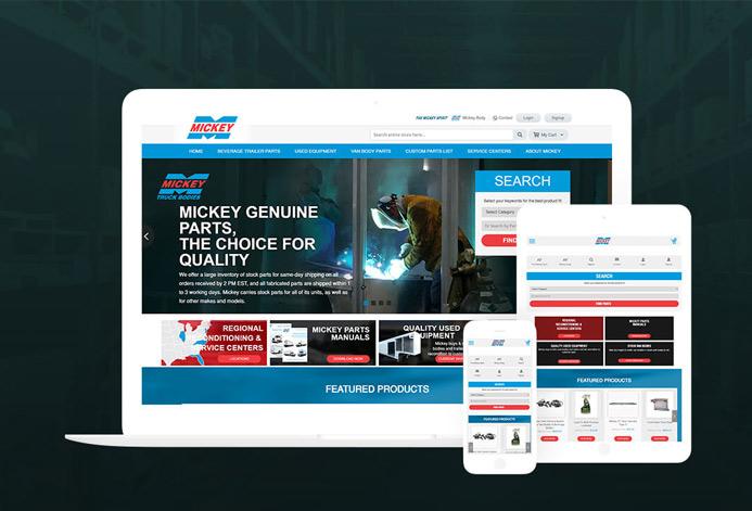 Mickey Parts Magento Website