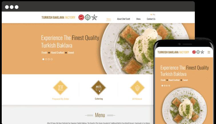 Turkish Baklava Factory: B2C Website Redesign