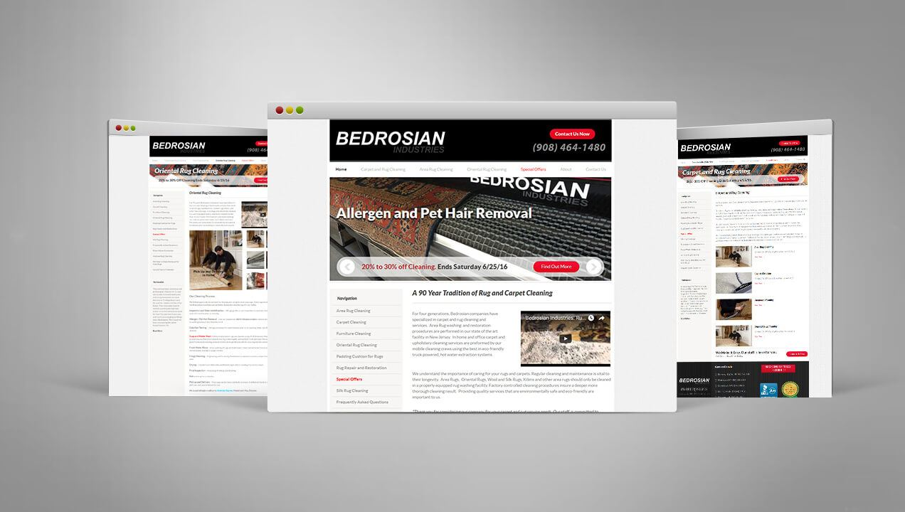 Bedrosian Industries website designs