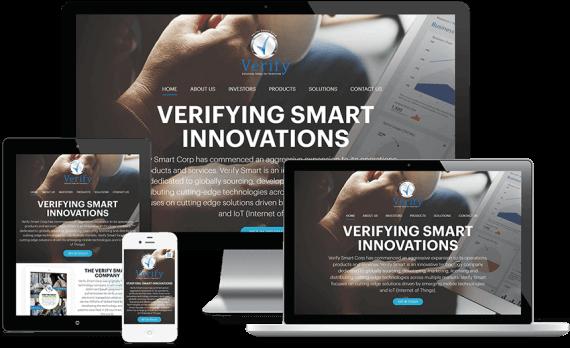 Verify Smart Corporation Web Design Business to Business