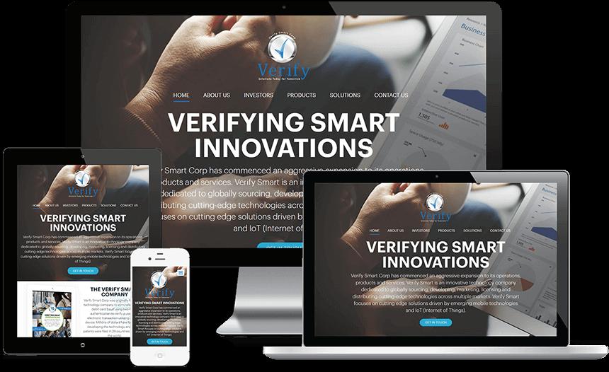 Custom Website for Verify Smart Corp
