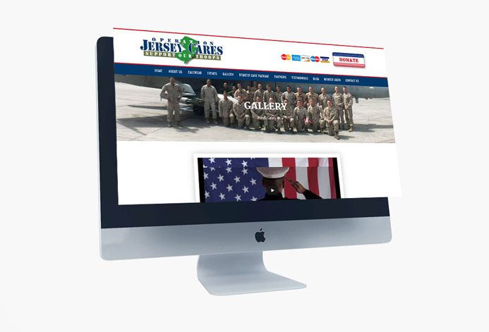 Operation Jersey Cares Org WordPress Website