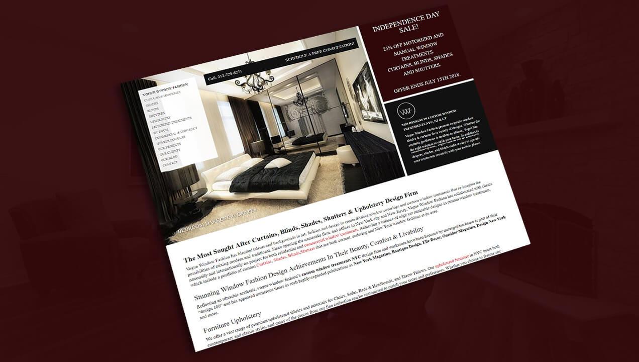 Vogue Window gallery website design