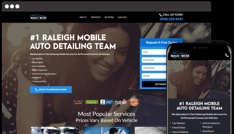 Wash N Werk: Local Business Website Redesign