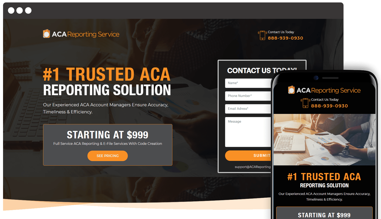 Webdesign ACA Reporting Service showcase