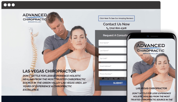 Advanced Chiropractic Web Design Landing Page