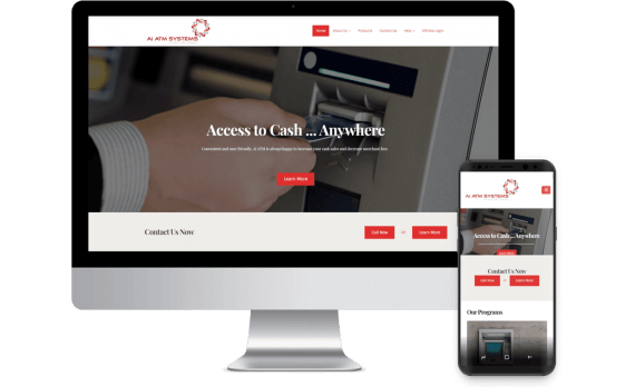 Ai ATM Systems Web Design Template Site